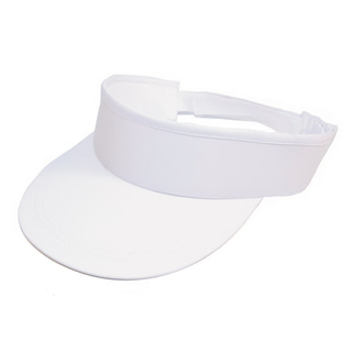 Wholesale white visor with towelling sweat band