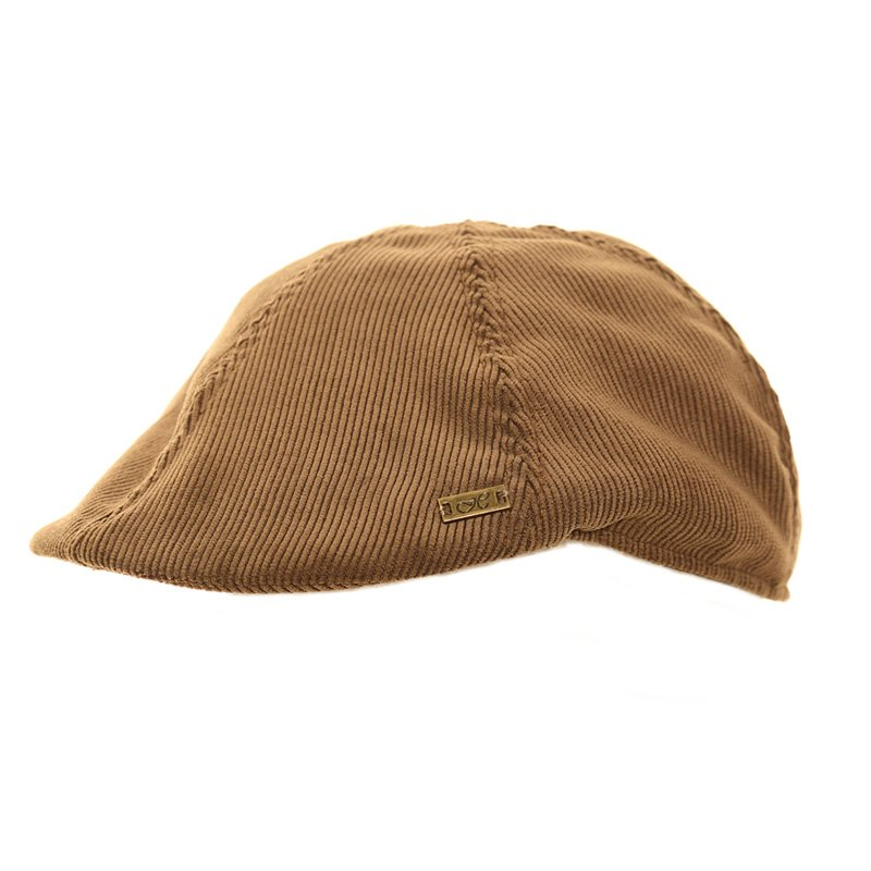 4a904610314 A1351-Mens cord flat cap with h logo