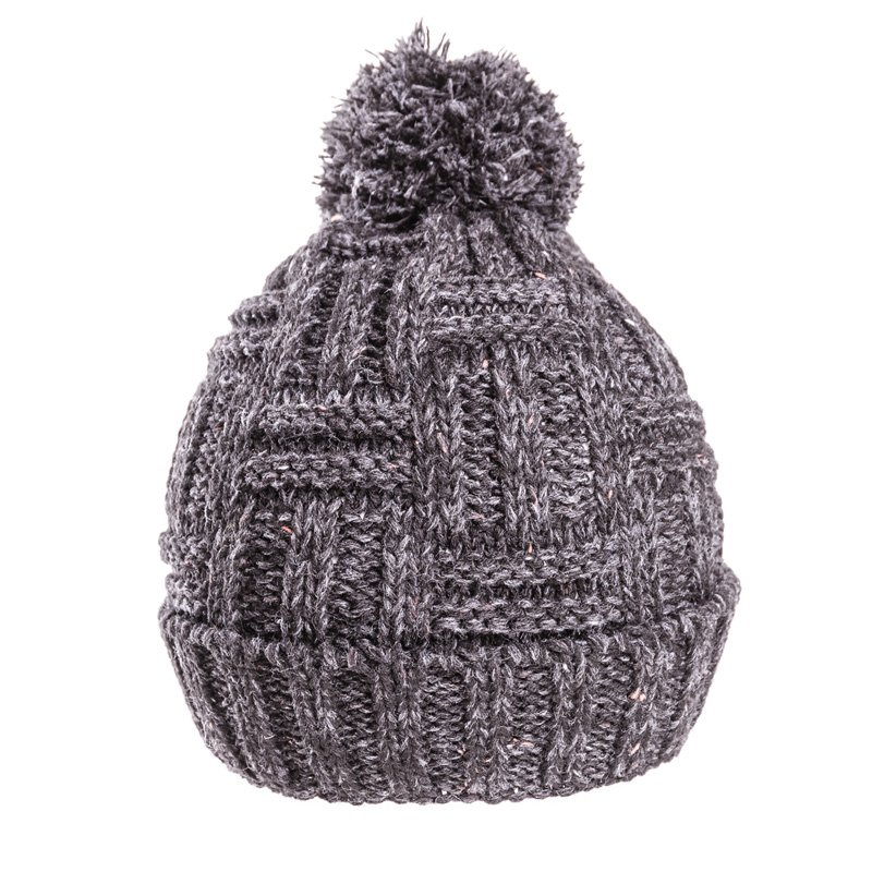 cd62b3a07c0 Wholesale knitted hats-A1424-Mens chunky knit bobble hat