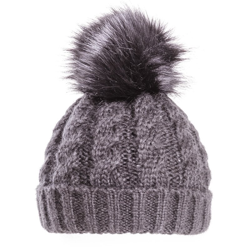 fcecd26d69a Wholesale Knitted hats-A1425-Striped yarn bobble hat