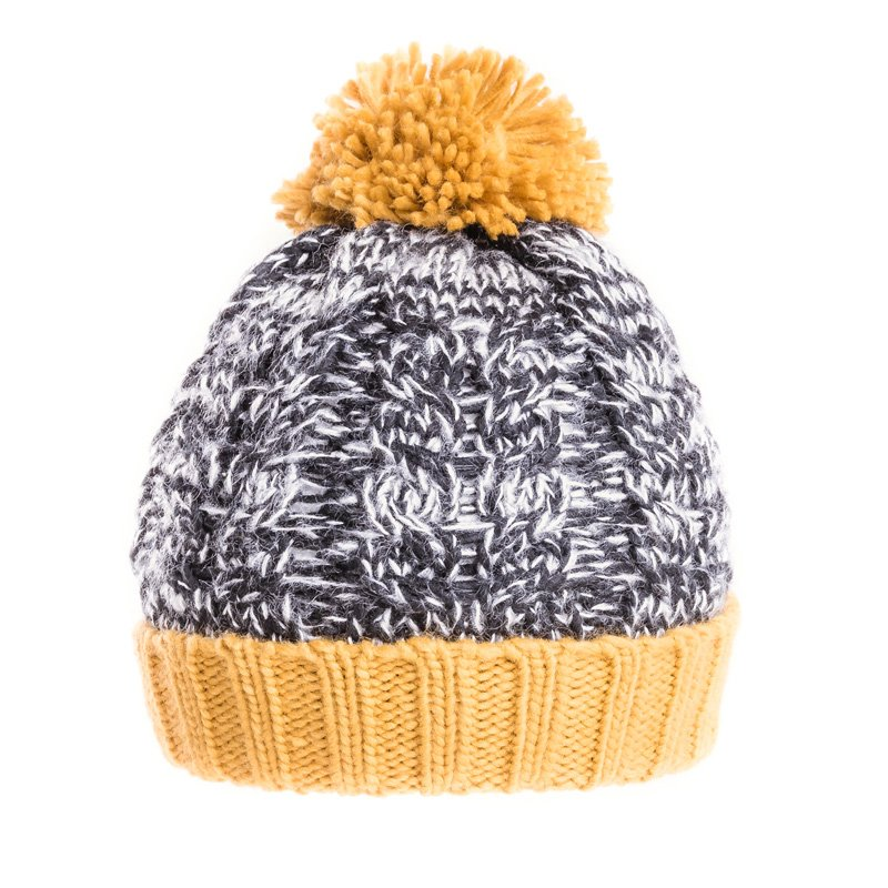 Wholesale knitted hats-A1472-Mens chunky cable knit bobble hat 530a480c55b