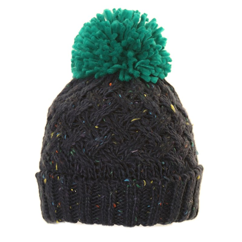 8d436710ce1 Wholesale knitted hats-A1473-Mens speckle chunky knit bobble hat