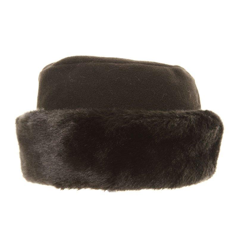 a323 s fleece hat with faux fur trim ssp hats
