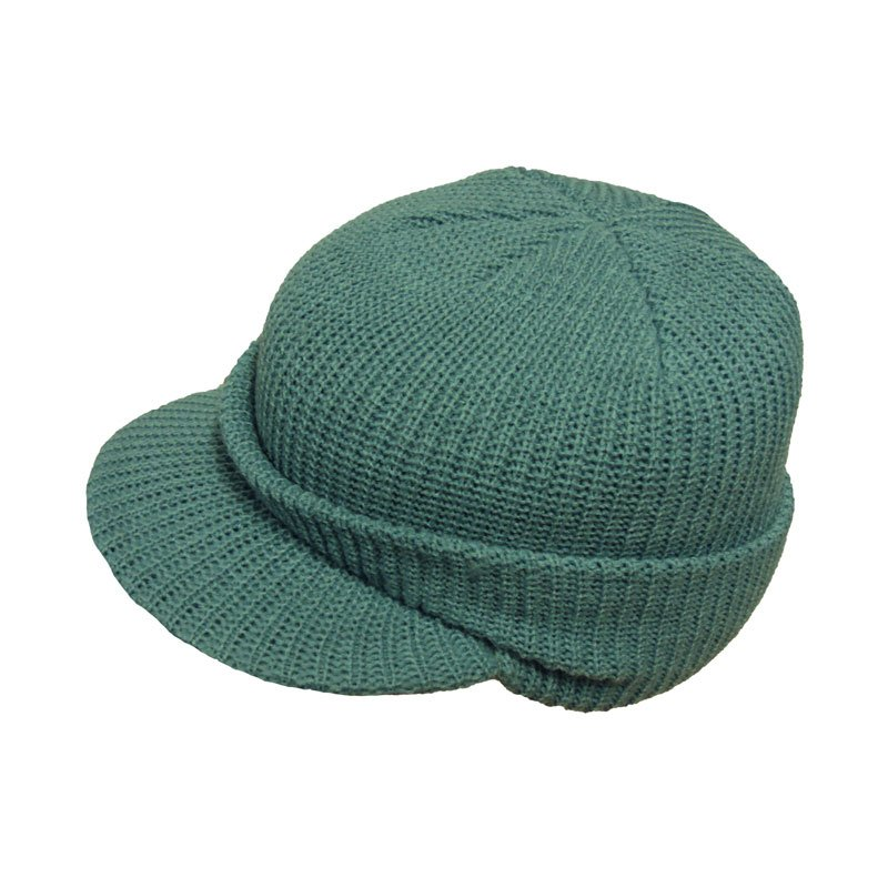 A438l - womens knitted hat with peak