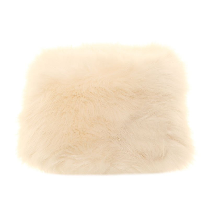 A661 - Ladies quality cream faux fur pillbox hat d8df37a0319