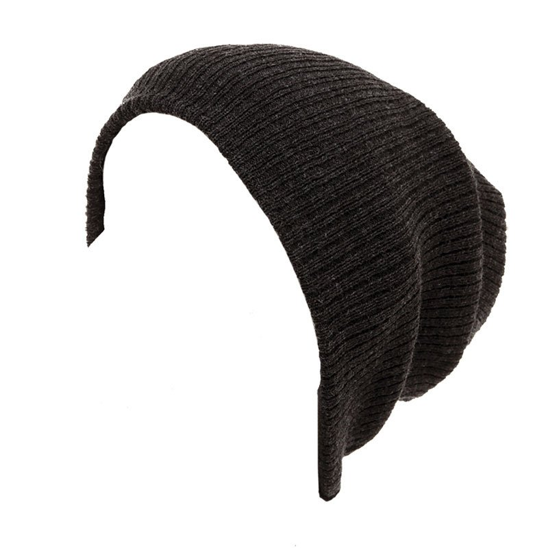 A762 - Ribbed oversized baggy beanie hat 6fd5be6d4f48