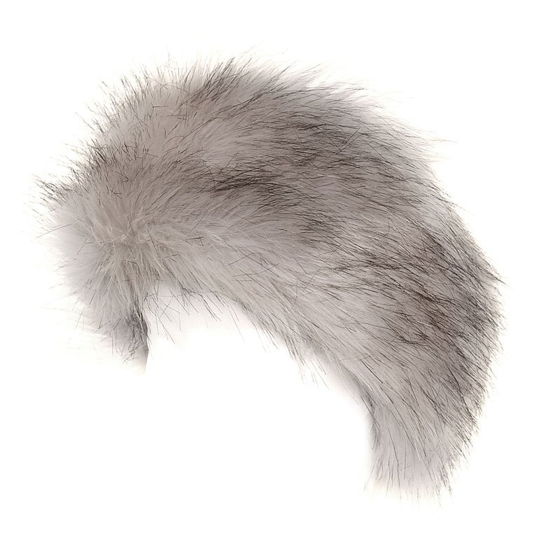 ccaa5d15292 A921 - Ladies white grey wide faux fur elasticated headband