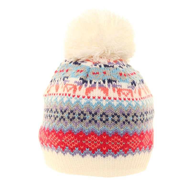 C420-girls double layer knitted bobble hat - SSP Hats