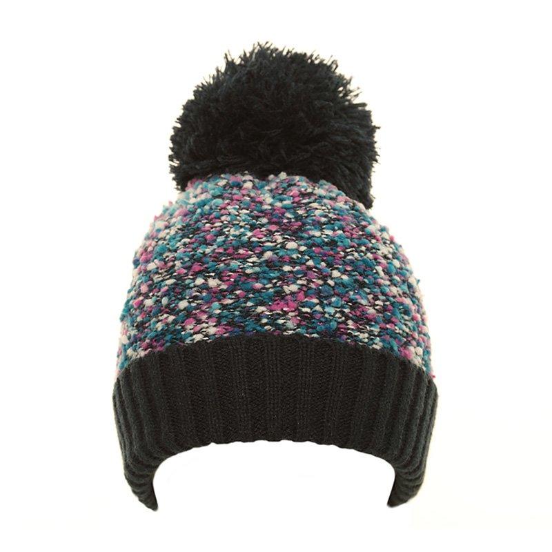 802d2234bcb C556-girls popcorn yarn knitted bobble hat