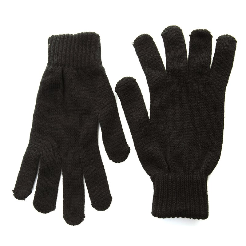 Gm2 - mens plain knitted gloves - SSP Hats