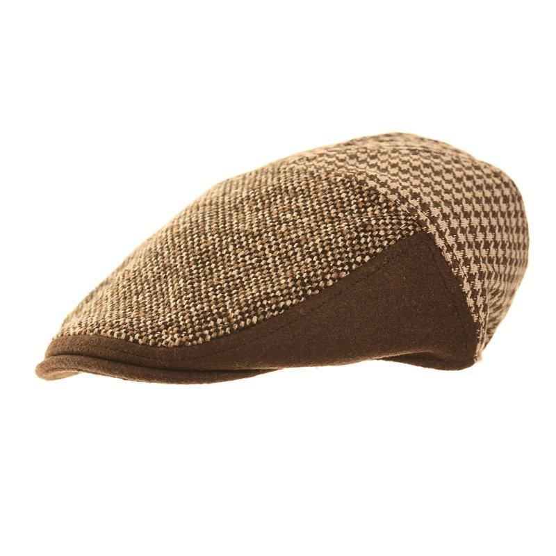 df4c84275fa H107-mens hawkins country pattern flat cap