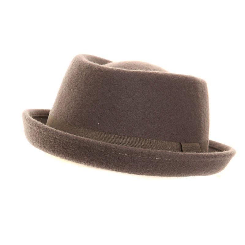 Hawkins Mens Green Tweed Fedora Country Hat with leather headband 100/% wool