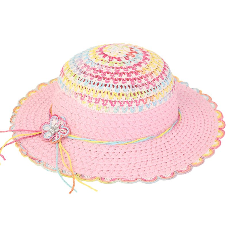 new arrivals official supplier look good shoes sale Wholesale straw hats-SC9-Girls' wide brim straw