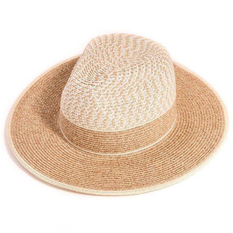 SL43- ladies luxury fedora straw hat 8c1c8c52a6e